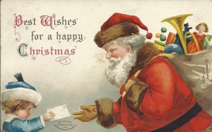 Happy Christmas Postcard 1907