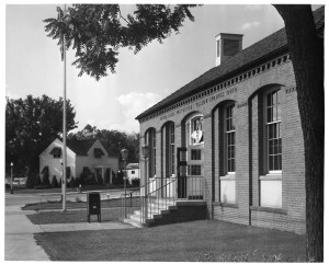 An early view of the current Post Office. Photograph courtesy of Antiochiana, Antioch College.